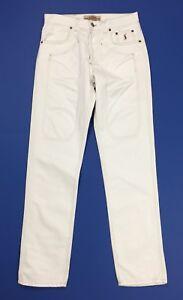 Jeckerson jeans uomo AA001U pantalone slim bianco usato boyfriend panta T4205