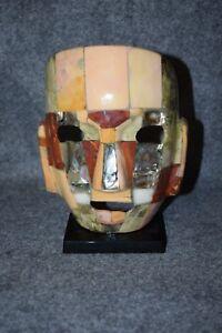 Ceramic Stone Tile Decorative Mask on Stand