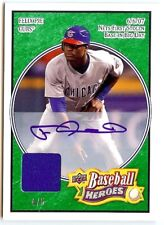 2008 UD Heroes 142 Felix Pie autograph jersey 4/5 green Cubs auto