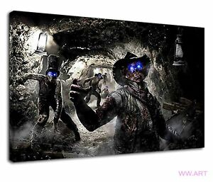 Call Of Duty Zombies Digital Illustration Canvas Wall Art Picture Print