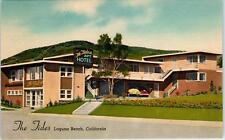 LAGUNA BEACH, CA California   The TIDES HOTEL   c1940s  Cars  Roadside  Postcard