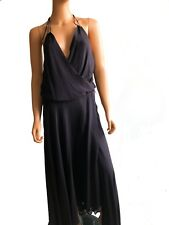 Haute Hippie Sleeveless Quince Maxi Evening Silk Dress With a Belt SIZE S