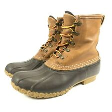 """LL Bean Waterproof Gore Tex Thinsulate 8"""" Leather Rubber Duck Boots Womens 8.5"""