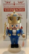 "Steinbach German Wooden Nutcracker S1496 Troll Blue King 11"" Original Box & Tag"
