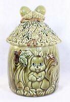 Vintage Ceramic Squirrel & Acorns Cookie Jar. Japan