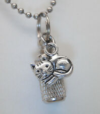ADORABLE CAT CREMATION JEWELRY URN NECKLACE PET MEMORIAL KEEPSAKE CYLINDER URN