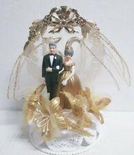 WILTON 50th Anniversary Wedding Cake Topper Decoration Gold Wedding vintage