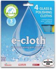 4x e-cloth Glass and Polishing Window Cleaning Cloth - 4 Cloths