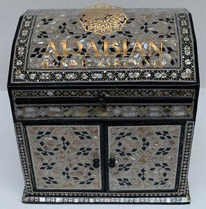 Handmade Mini Chest of Drawers, Moroccan Dresser, Wood Jewelry Storage Organizer