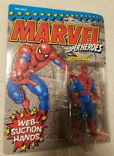 Marvel Super Heroes THE AMAZING SPIDER-MAN Web-Suction Hands Toy Biz 1990 NEW