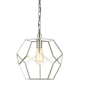 AF Lighting Bellini 1-Light Brushed Nickel Industrial Style Pendant ( 9134-1P )