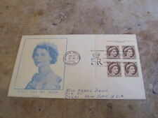 1954 Canada First Day Cover / FDC - 1d Queens Head Definitive - Block of 4