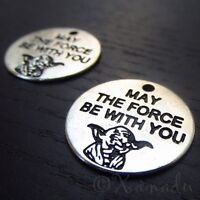 Star Wars Yoda Charms - May The Force Be With You Pendants C0614 - 5, 10, 20PCs