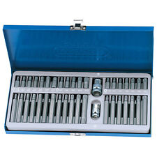 Draper 40 pieza de acero mecánica Tx-Star Torx/Spline/Hex Bit Set en caja de almacenamiento