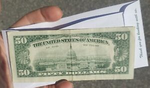 1969 C $50 FIFTY DOLLAR FEDERAL RESERVE NOTE Philadelphia mint circulated.