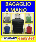 TROLLEY VALIGIA CABINA BAGAGLIO A MANO per RYANAIR EASY JET 4 RUOTE LOW RIGIDA