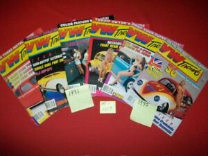 6-VINTAGE COLLECTIBLE ISSUES OF VW TRENDS MAGAZINE VOLKSWAGEN BUG 1991 & 1995