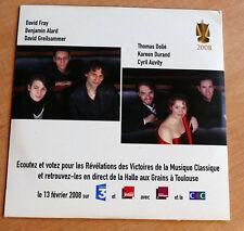 CD promo compilation Les Révélations Des Victoires De La Musique Classique 2007