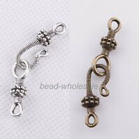 Wholesale 20 sets Tibetan Silver Snake Hook Clasps Connector Findings