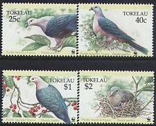 Tokelau 1995 Mi 210-13 ** WWF Birds Vögel Ptak Taube Pigeon Gołębie