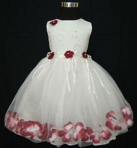 Flower Girl Party Bridesmaid Wedding Pageant Dress 9-12 Months to 6-7 Years