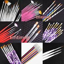 Nail Art Pen Brush UV Gel Acrylic Painting Drawing Liner Polish Brush Tips Set