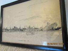 Original, Signed, Pen & Ink Maritime Drawing