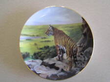 """Collector Plate, Big Cats of the World. Tiger on Rock """"Above the Treetops"""""""