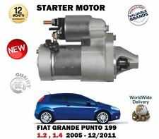 FOR FIAT GRANDE PUNTO 1.2 1.4 8V 2005-12/2011 NEW STARTER MOTOR UNIT