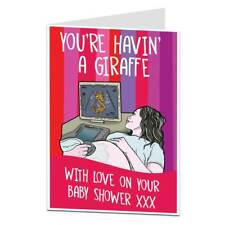 "Funny Baby Shower Card ""You're Havin A Giraffe"""