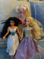 lot poupées mannequin  disney ,brune,blonde+une petite microbe  offerte