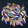 TITANIUM RAINBOW AURA LEMURIAN SEED QUARTZ crystal POINT wand 50g+