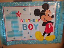 1st Birthday Mickey Mouse High Chair Decorating Kit Party and Party Hat Lot