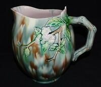 Griffin Smith & Hill USA Majolica Etruscan Hawthorne Pitcher 1879-1892