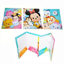"DISNEY TSUM TSUM FEVER Mickey Minnie School Poly Folders 11.8"" 4-PACK"