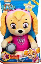 Paw Patrol Snuggle Up Skye Kids Doll Plush Licensed Toy Dog Light Sound Lullaby