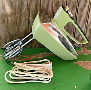 Vintage Hamilton Beach Super Mixette Handheld Mixer Avocado Green Model 79-1