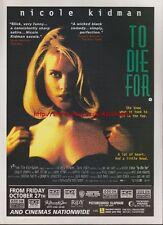 To Die For Nicole Kidman Cinema 1995 Magazine Advert #3372