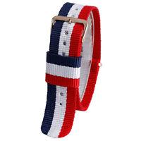 Unisex 4 Style Watchband 20mm Fabric Nylon Canvas Watch Band Strap Men's Women's