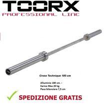 Toorx Bilanciere olimpionico Cross technique cm 180 kg 7,5 carico max 20 kg