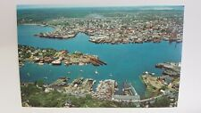 Vintage Postcard Air View of Gloucester Harbor Rocky Neck Cape Ann MA A1