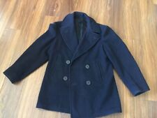 Vtg U.S. Navy Military Kersey Men's Navy Wool PEA COAT Peacoat Jacket Size 38