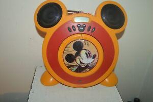 POSTE RADIO ET LECTEUR CD MICKEY MOUSE DISNEY FONCTIONNE MD80389