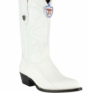 Men's Wild West Ostrich Leg J Toe Boots Handcrafted