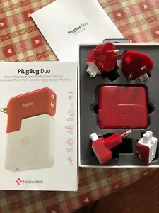 Twelve South PlugBug Duo All-in-one MacBook Global Adapter + Dual USB Charger