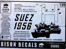 BISON DECALS 1/35 SUEZ 1956