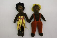 VINTAGE Pair of NORAH WELLINGS Black Handpainted Island Dolls, Made In England