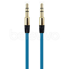 EXTRA LONG 3.5MM Audio Cable Lead FOR Monster Dr Dre Beats Solo, Studio - BLUE
