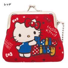 Japan Sanrio Hello Kitty Mini Wallet Coin Case Red New
