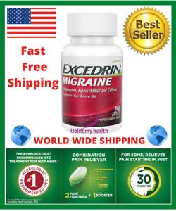 Excedrin Migraine 300 Coated Caplets Headache Pain Reliever WorldWide Ship